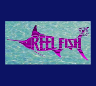 REEL FISH DESTIN™ Pattern License Plate in Sun Masks, Fishing Gear and Accessories
