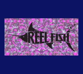 REEL FISH LADY TIDEWATER™ Pattern License Plate in Sun Masks, Fishing Gear and Accessories