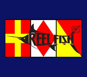 REEL FISH RFO NAUTICAL™ Pattern License Plate in Sun Masks, Fishing Gear and Accessories