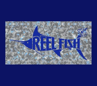 REEL FISH TIDEWATER™ Pattern License Plate in Sun Masks, Fishing Gear and Accessories