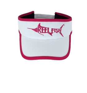REEL FISH™ Hot Pink REEL GIRLS FISH Performance Visor in Men's and Women's Headwear, Caps and Hats