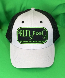 REEL FISH™ Hook Patch Trucker Hat in Men's and Women's Headwear, Caps and Hats
