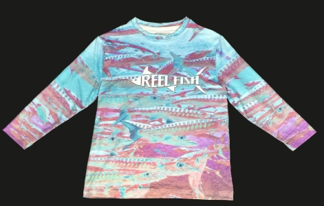 REEL FISH CUDA™ youth performance shirt in Youth and Kids Apparel and Clothing