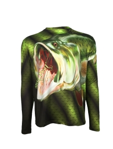 Men's REEL FISH BIG MOUTH™ Bass series UV performance shirt in Men's Clothing and Apparel