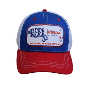 REEL FISH PATRIOT™ Fitted Performance Trucker Hat in Men's and Women's Headwear, Caps and Hats