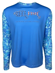 Men's REEL FISH PATRIOT™ Sun Protection Performance Fishing Shirt in Men's Clothing and Apparel