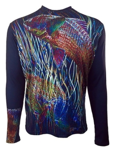 Men's REEL FISH ELECTRIC REDFISH™ Sun Protection Performance Shirt in Men's Clothing and Apparel